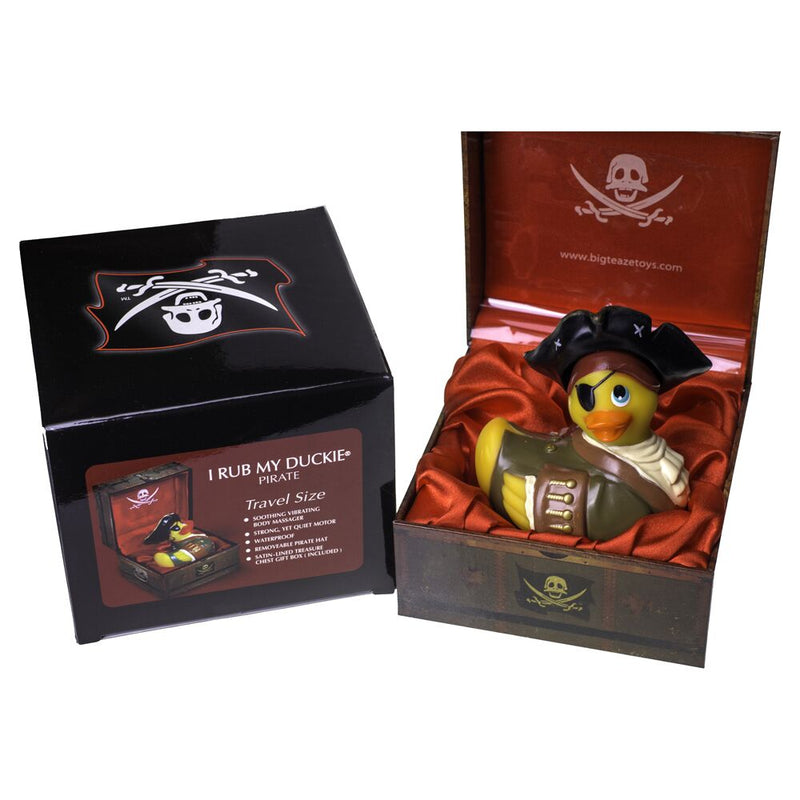 Big Teaze Toys I Rub My Duckie Pirate Yellow Small - The Chocolate Men Adult Store