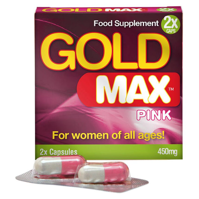 GoldMAX Libido Supplement 2 Pack For Women Pink 450mg - The Chocolate Men Adult Store