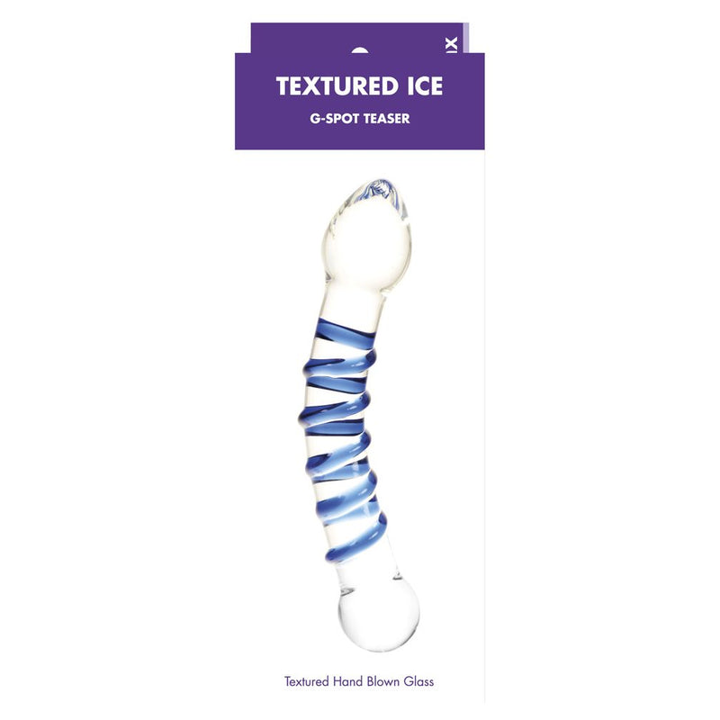 Kinx Textured Ice Gspot Teaser Blue - The Chocolate Men Adult Store