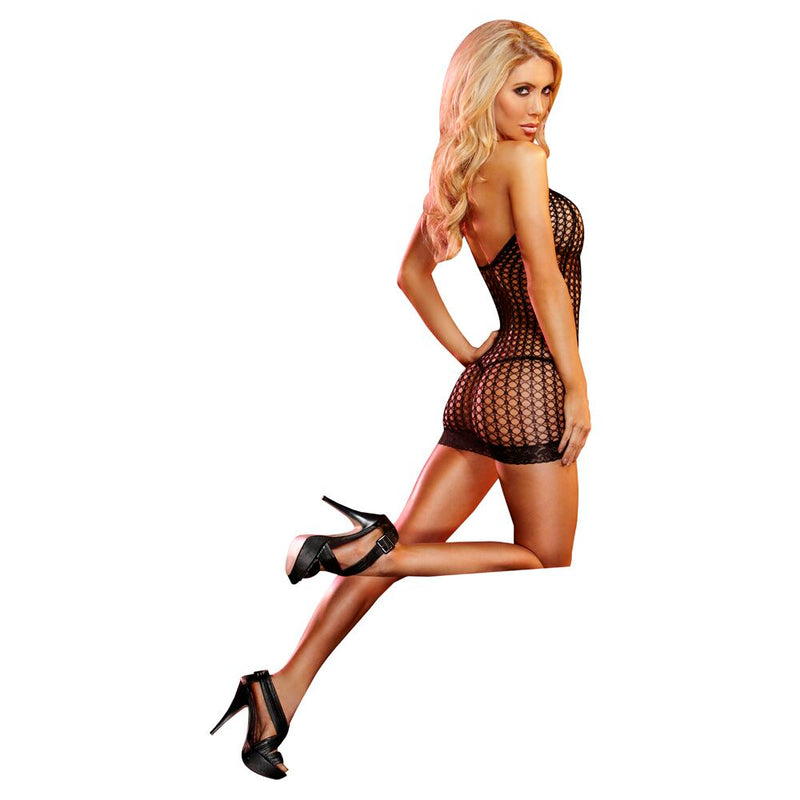 Lapdance Lace Mini Dress Black XS/S - The Chocolate Men Adult Store