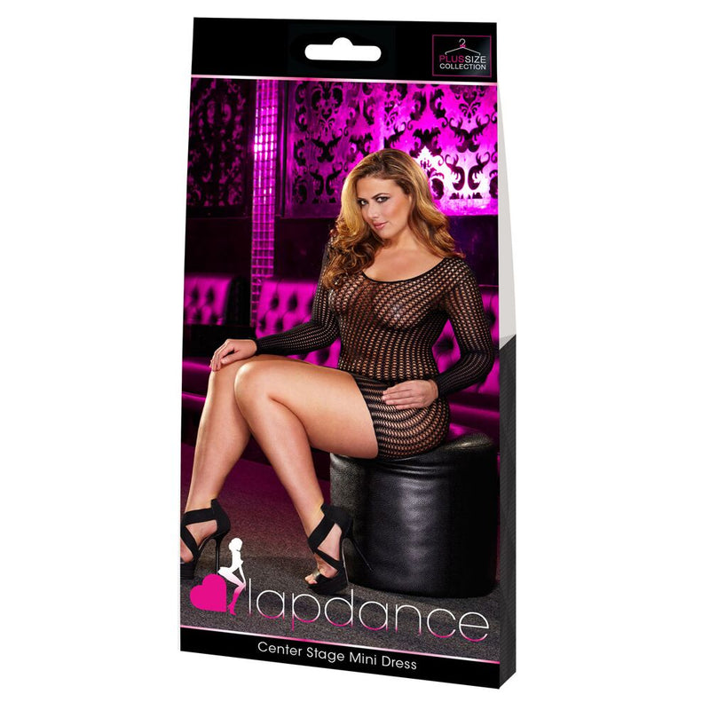 Lapdance Center Stage Mini Dress Black Queen - The Chocolate Men Adult Store