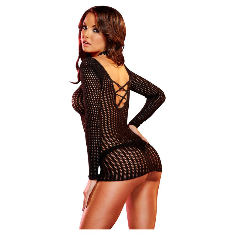 Lapdance Center Stage Mini Dress Black XS/S - The Chocolate Men Adult Store