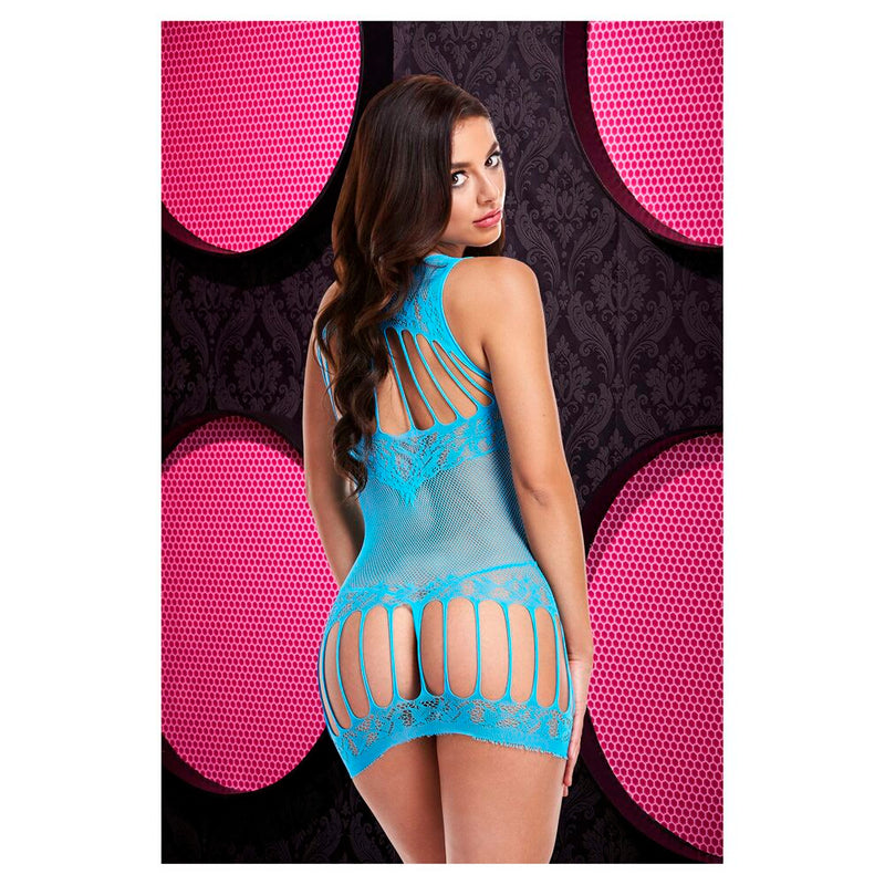 Lapdance Racerback Mini Dress Blue XS/S - The Chocolate Men Adult Store