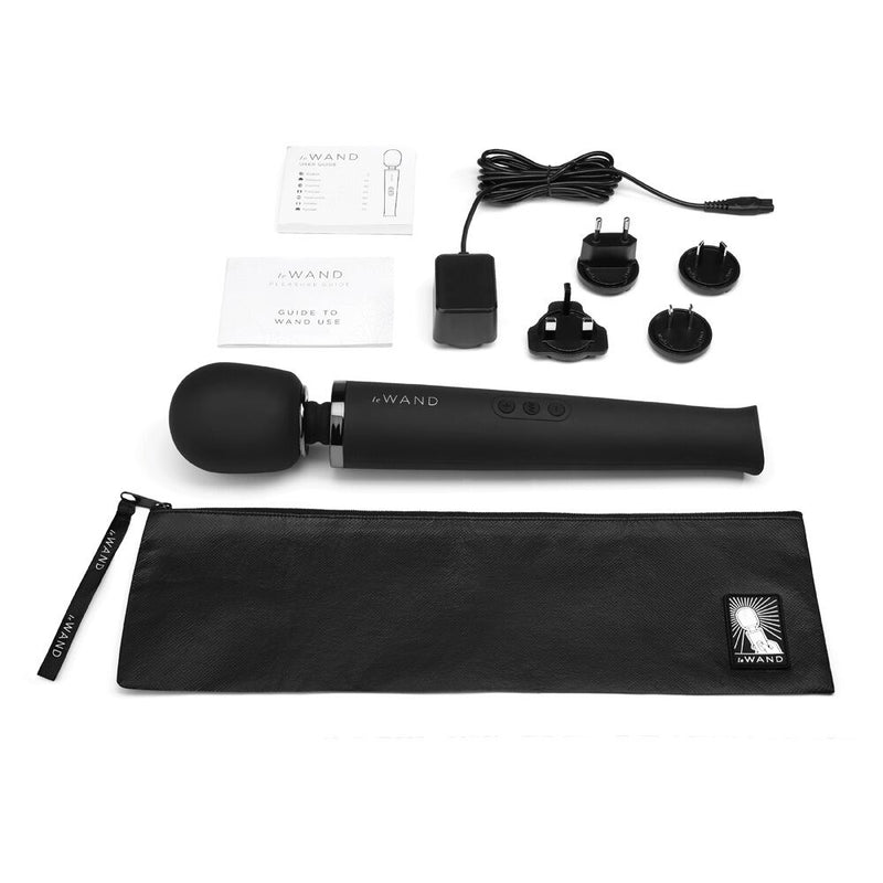 Le Wand Rechargeable Massager Black - The Chocolate Men Adult Store
