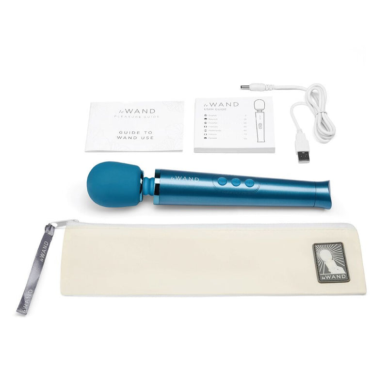 Le Wand Petite Rechargeable Massager Blue - The Chocolate Men Adult Store