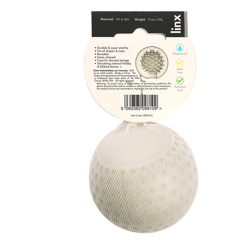 Linx Fore Stroker Ball Clear/White - The Chocolate Men Adult Store