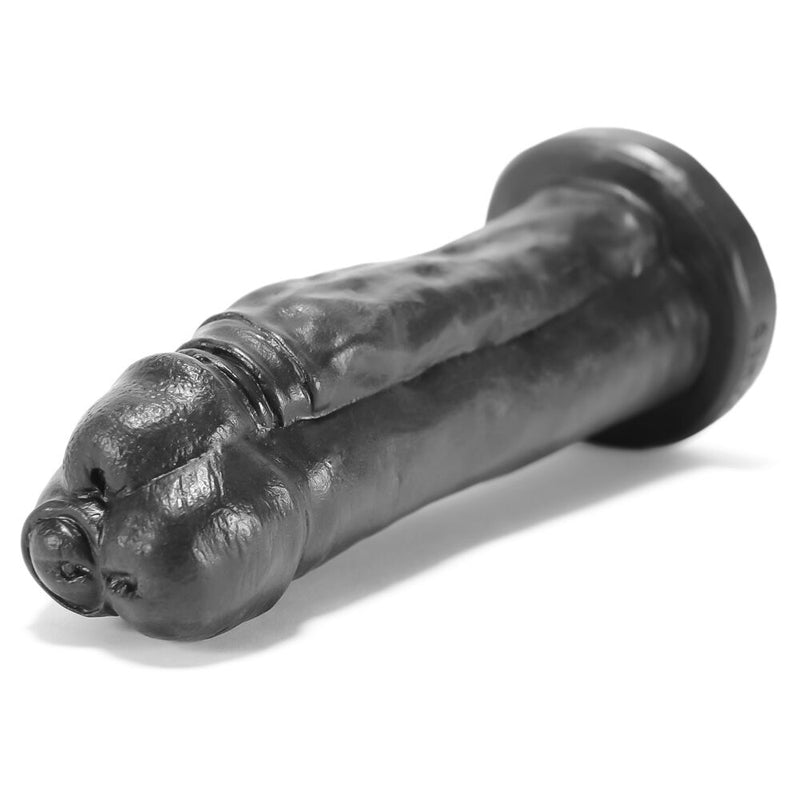 Oxballs Tres Leches Dildo Black 9in - The Chocolate Men Adult Store