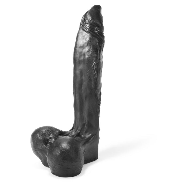 Oxballs Demonic Dildo Black 14in - The Chocolate Men Adult Store