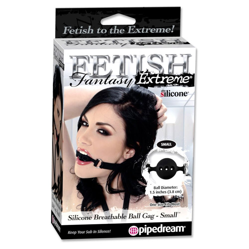 Fetish Fantasy Extreme Breathable Ball Gag Black Small - The Chocolate Men Adult Store