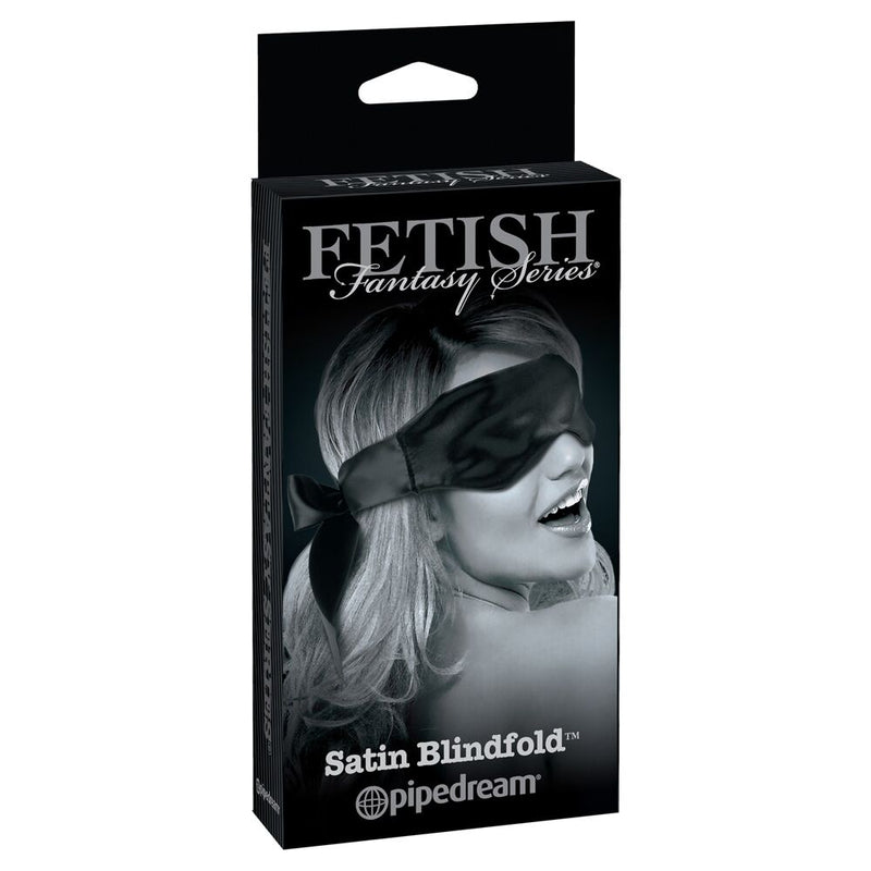 Fetish Fantasy Limited Edition Satin Blindfold Black - The Chocolate Men Adult Store