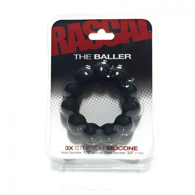 Boneyard The Baller Cockring Black - The Chocolate Men Adult Store