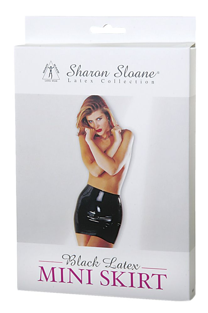 Sharon Sloane Latex Mini Skirt Black M/L - The Chocolate Men Adult Store