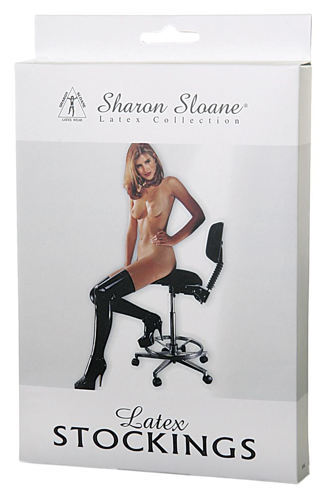 Sharon Sloane Latex Stockings Black M/L - The Chocolate Men Adult Store