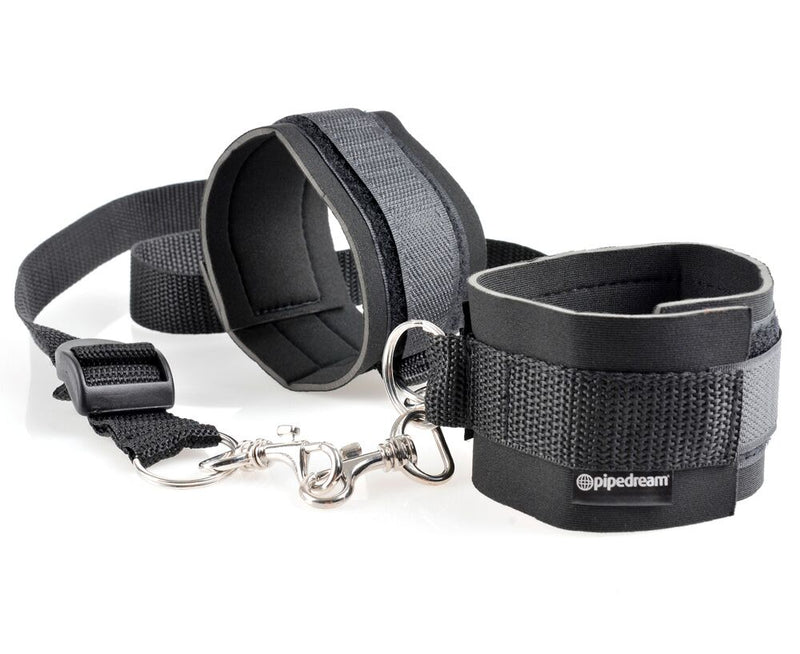 Fetish Fantasy Cuff & Tether Set Black - The Chocolate Men Adult Store
