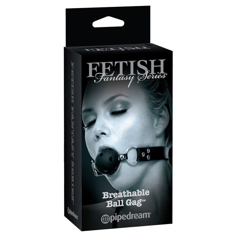 Fetish Fantasy Limited Edition Breathable Ball Gag Black - The Chocolate Men Adult Store