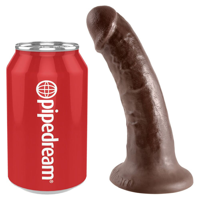 King Cock Brown 6.75in - The Chocolate Men Adult Store