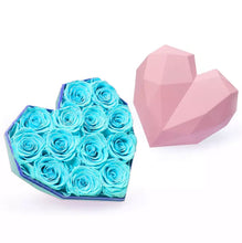 Load image into Gallery viewer, Mini Heart 9 Elegant Roses Arrangement
