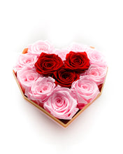 Load image into Gallery viewer, Mini Heart 13 Elegant Roses Arrangement