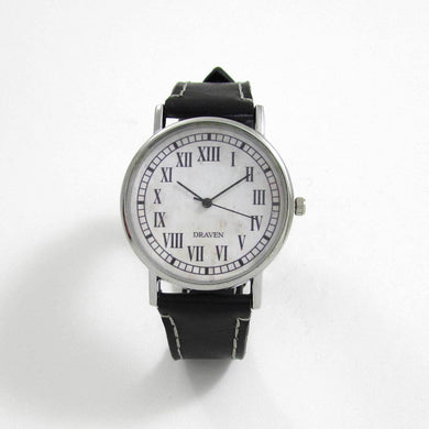 13 Hour Black Leather Wrist Watch - TheExCB