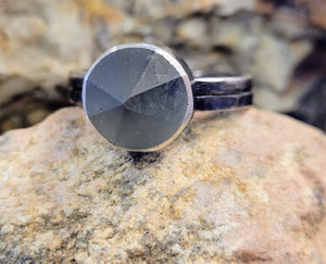 Sterling Silver Ring with Quartz