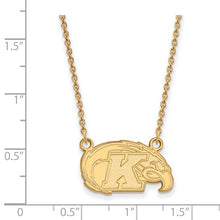 Load image into Gallery viewer, Sterling Silver With GP Kent State University Small Pendant With Necklace