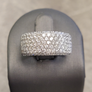 Estate 1.5ctw Diamond Pave White Gold Band