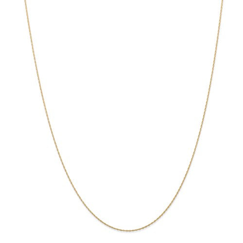14k Yellow Gold 0.5mm Cable Rope Chain