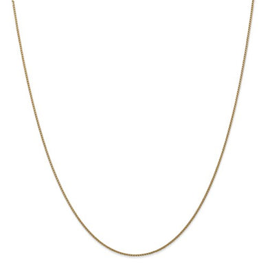 Leslie's 14K Yellow Gold 1mm Solid Diamond-cut Spiga Chain