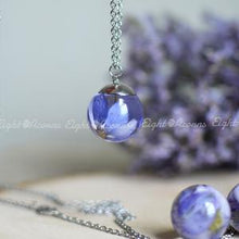 Load image into Gallery viewer, Blue Delphinium Sphere Necklace