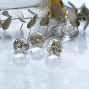 Dandelion Seeds Small Sphere Necklace