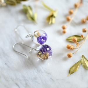 Purple Limonium earrings