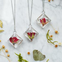 Load image into Gallery viewer, Pressed Rosebud Necklace