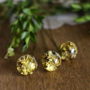 Lichen moss sphere necklace