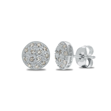 Limited Edition Round Sparkle Classic Earrings by MeditationRings