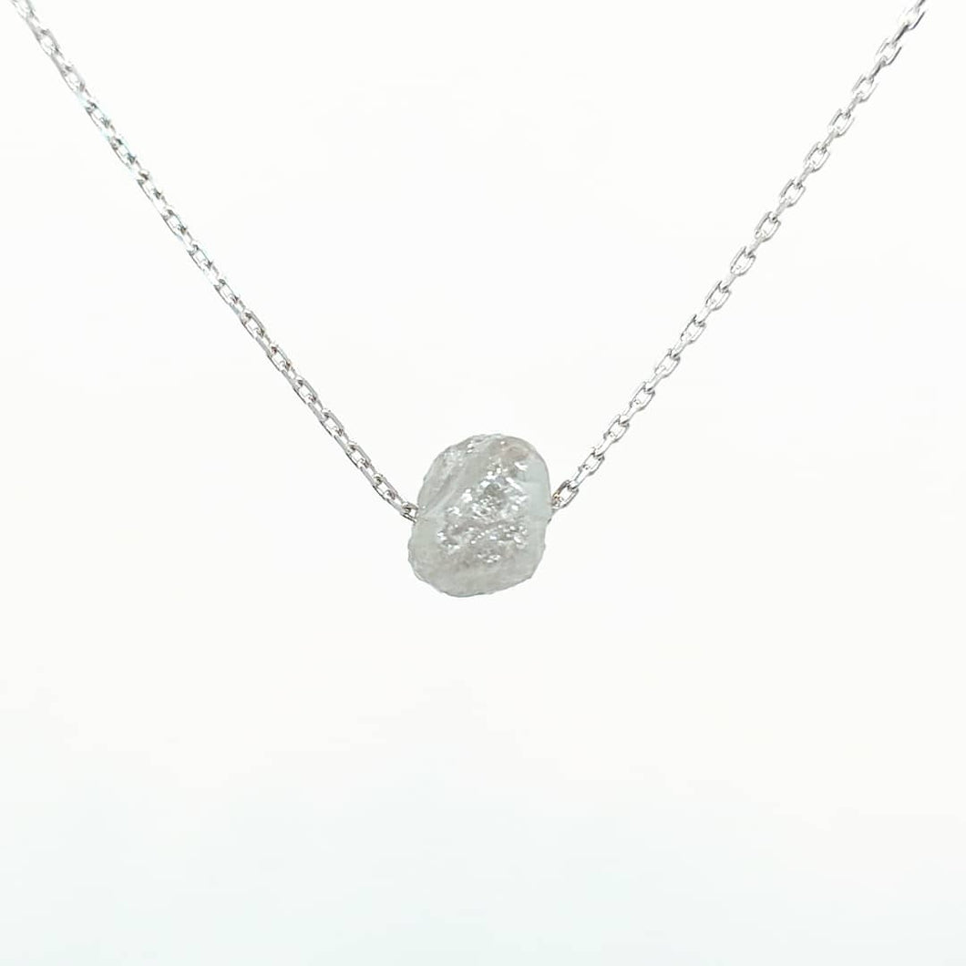 Rough Diamond Necklace - White