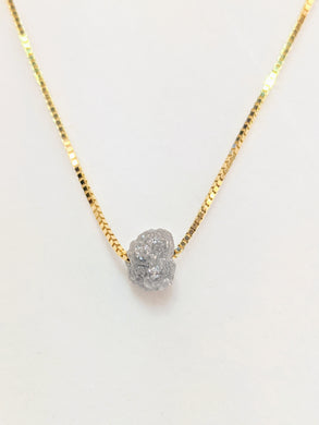Rough Diamond Solitaire Necklace