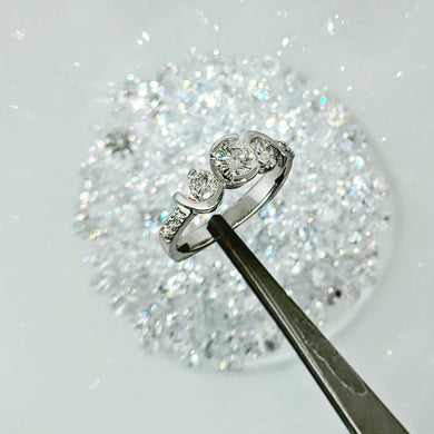 Jubliant Crown Diamond Engagement 3 Stone Ring
