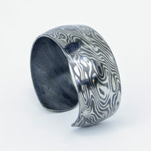 Load image into Gallery viewer, Stainless Mokume Cuff