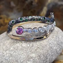 Load image into Gallery viewer, Unique Combination of Diamonds, Tsavorites, and Pink Tourmaline
