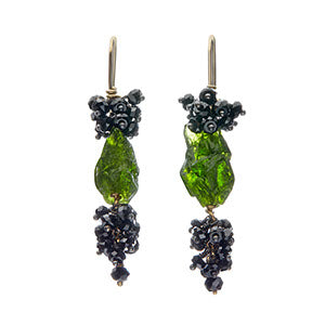Voyageuse Collection Pennata drop earrings