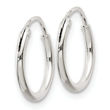 Load image into Gallery viewer, Sterling Silver 1.3mm Hoop Earrings