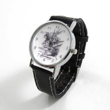 Load image into Gallery viewer, Alice in Wonderland Black Leather Wrist Watch - TheExCB