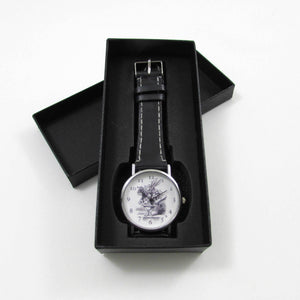 Alice in Wonderland Black Leather Wrist Watch - TheExCB