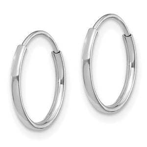 14k Madi K White Gold Endless Hoop Earrings