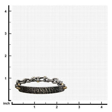 Load image into Gallery viewer, Antiqued Gun Metal Distressed Mariner Curb Chain Link ID Bracelet
