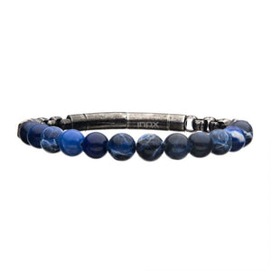 8mm Sodalite Beads and Box Chain Bracelet