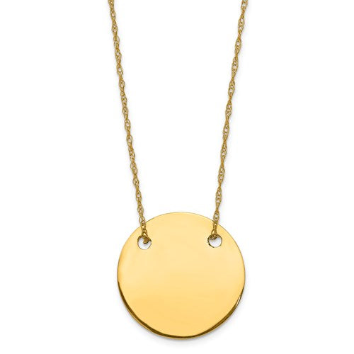 14K Yellow Gold Ropa Chain with Disk