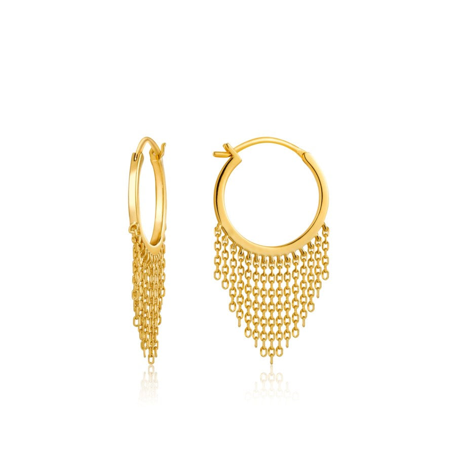 Gold Fringe Fall Earrings