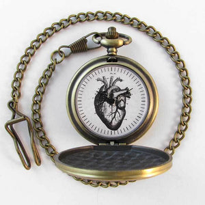 Anatomical Heart Pocket Watch - TheExCB