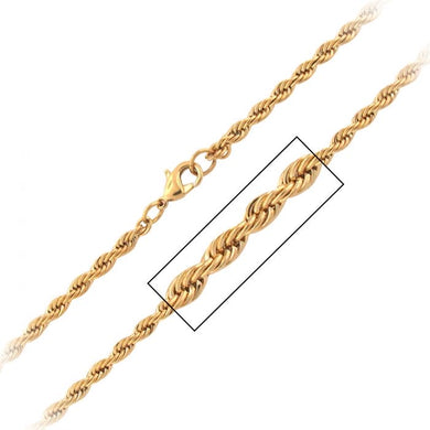 Gold Plated French Rope Chain